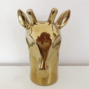 Anthropologie gold giraffe bud vase